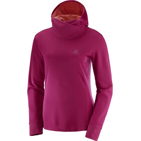 Salomon Agile LS Hoodie Women Cerise Heather